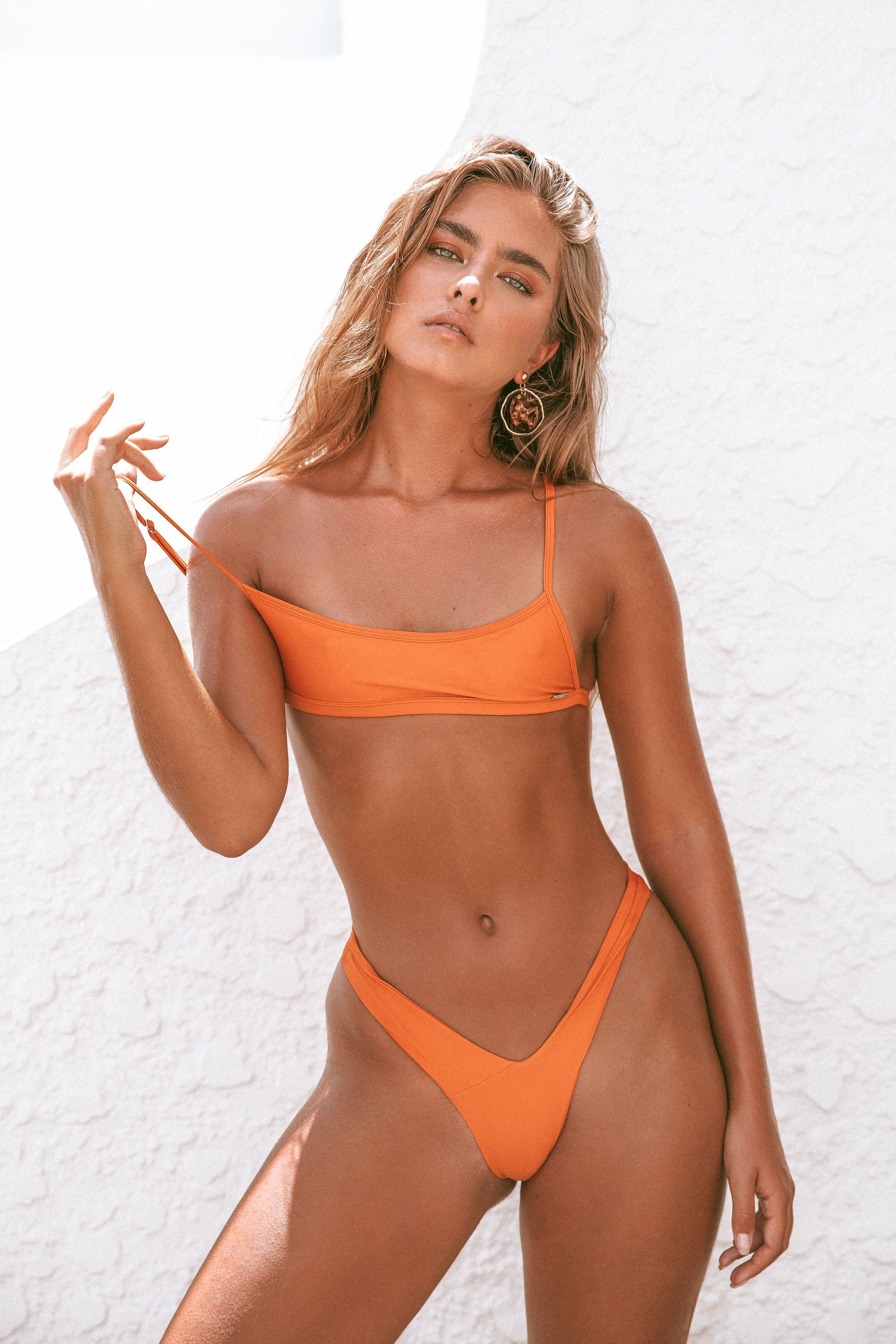 Orange Bikini Top