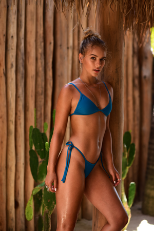 Coco Thong in Cobalt