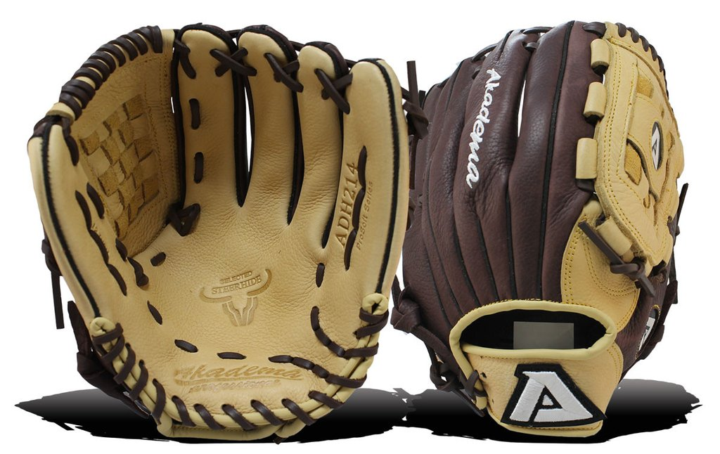 "AKADEMA ADH 214 12"" B-Hive Web, Deep Pocket ProSoft Baseball Glove-RT/LT"