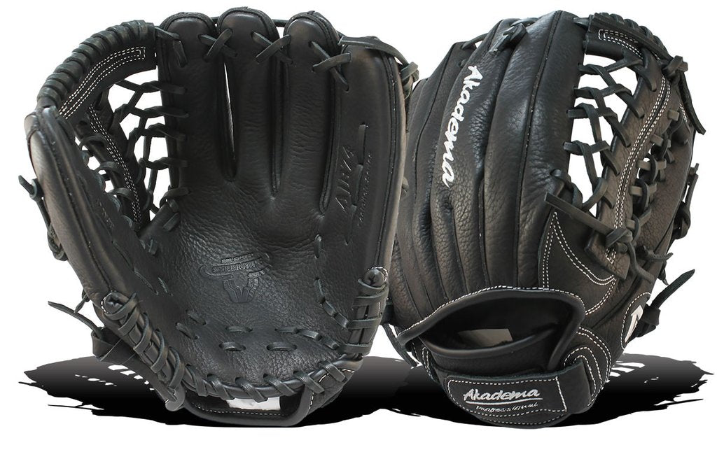 "AKADEMA AJB 74 12"" Fly-Trap Web, Fast Pitch Infielder Glove-RT/LT"