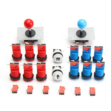 Arcade hine DIY Kit 2 Joystick + 12 Push Buttons + 2 Start Button + 20 Microswitches Game Accessories - Home of Arcadia