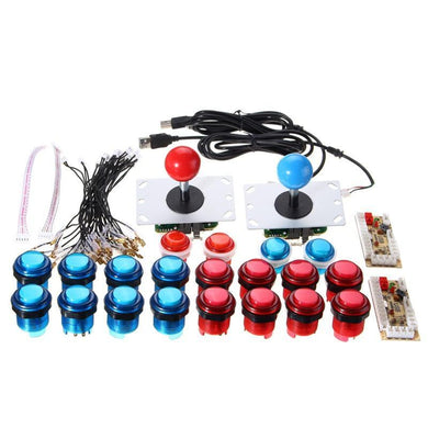 LED DIY arcade Kit blue and red