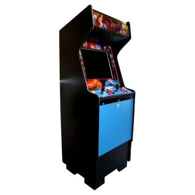 Standard blue arcade side view