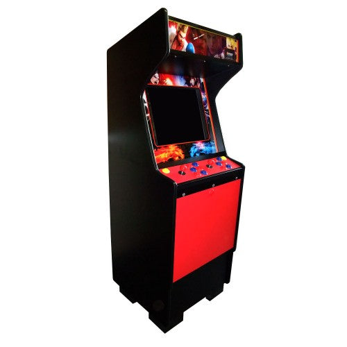 Standard red arcade side view