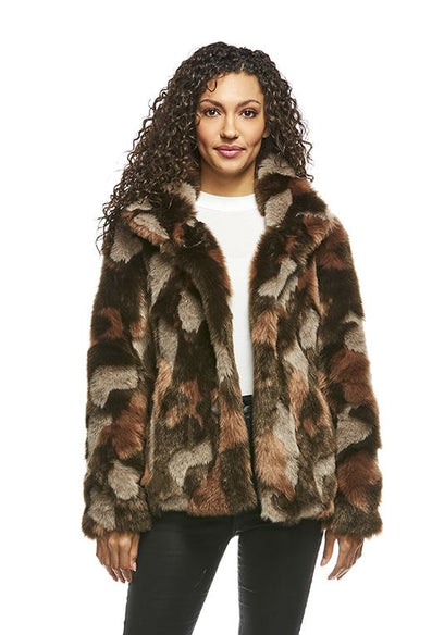 Camo Faux Fur Every-Day Mink Jacket