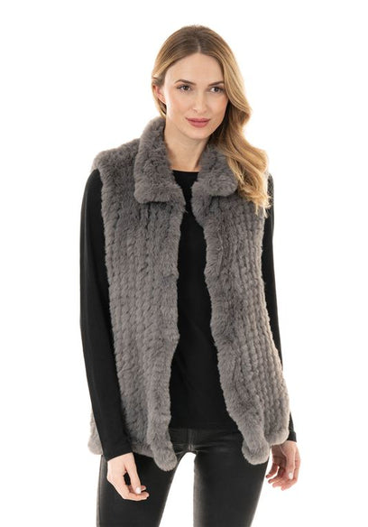 Knitted Faux Fur Vest