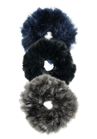 Couture Faux Fur Scrunchie Set