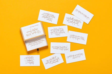 Tiny Cards. Big Words. Strong Women