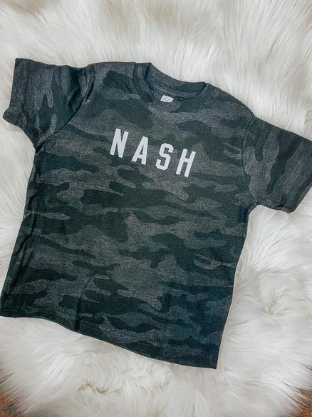 Youth Black Camo Tee