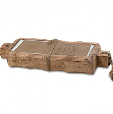 4 Wick Driftwood Trough Candle