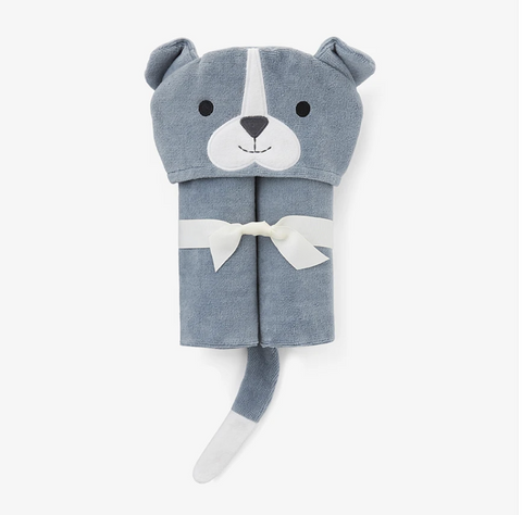 Blue Puppy Hooded Towel