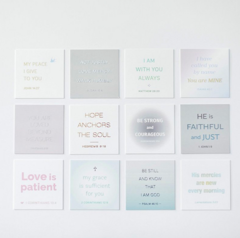 Mini Bible Verse Cards with Acrylic Stand