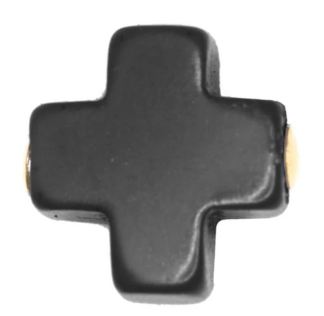 Signature Cross Stud, Onyx