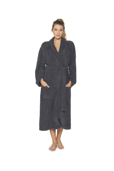 CozyChic Adult Robe - Slate Blue