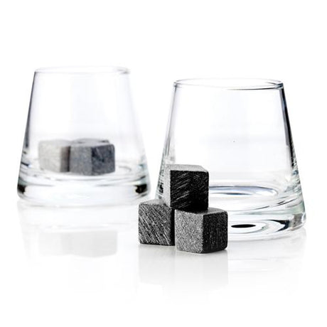 Glacier Rocks 8-Piece Soapstone Cube and Tumbler Set