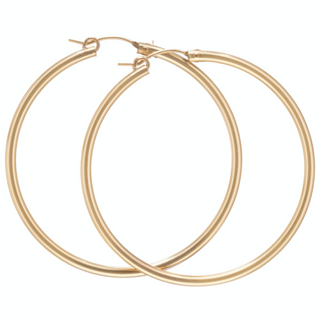 "Round Gold 2"" Hoop - Smooth"