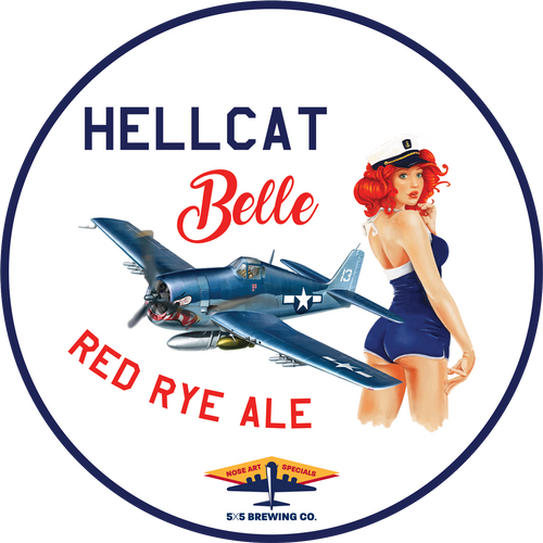 Round Sticker - Hellcat Belle
