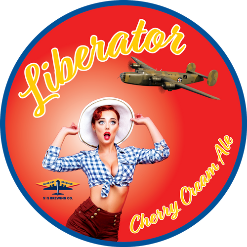 Round Sticker - Liberator Cherry Cream Ale