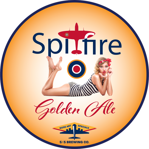 Round Sticker - Spitfire Golden Ale