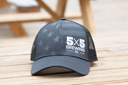 5x5 Flag Cap - Black