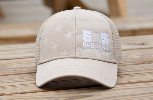 5x5 Flag Cap - Tan