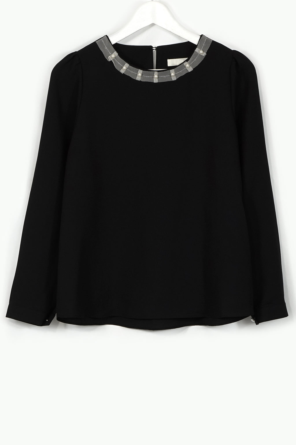 Pearl Round Neck Blouse