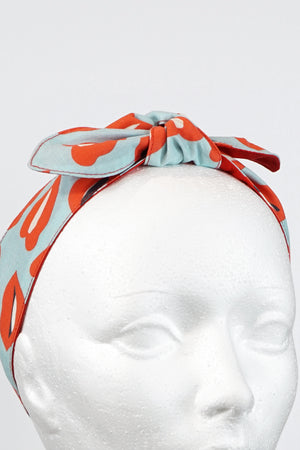 Lips Pattern Reversible Headband
