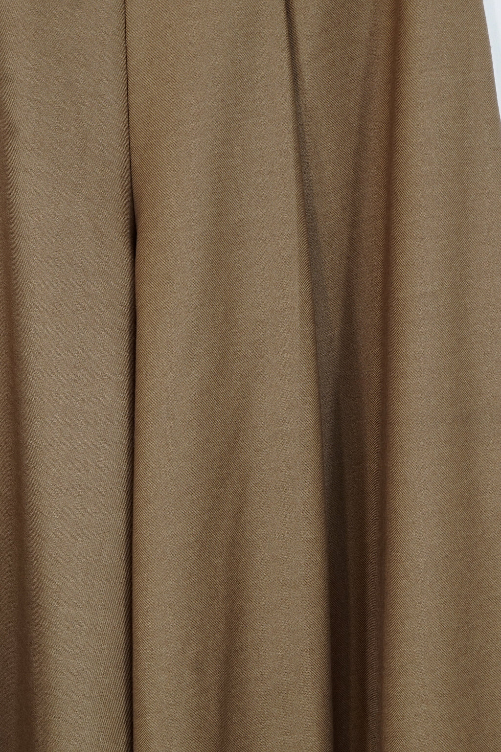 Camel Pleated Wide-Leg Pants