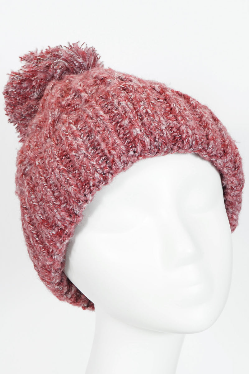 Fleece Lined Cable Knit Pom Pom Beanie