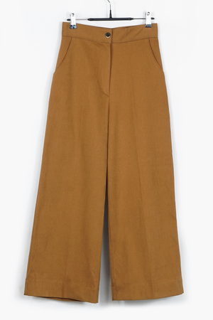 Fleece Lined Wide-Leg Pants