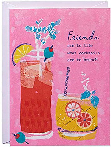 Brunch and cocktails Greeting Card