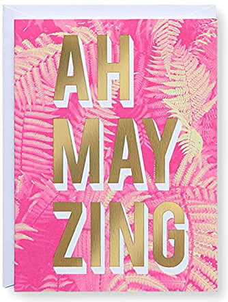 AH MAY ZING Greeting Card