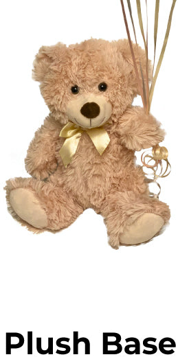 Add an adorable stuffed animal as the base weight for smiles that will keep coming long after the balloons are gone.