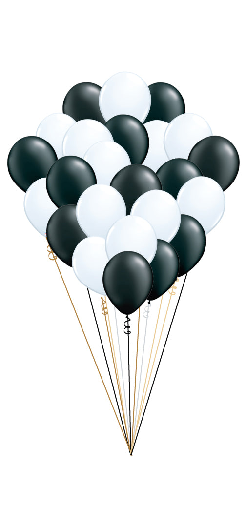 Two Dozen Black and White Balloons