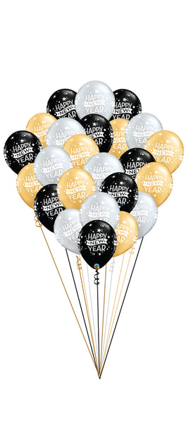 Two Dozen Happy New Year Balloons