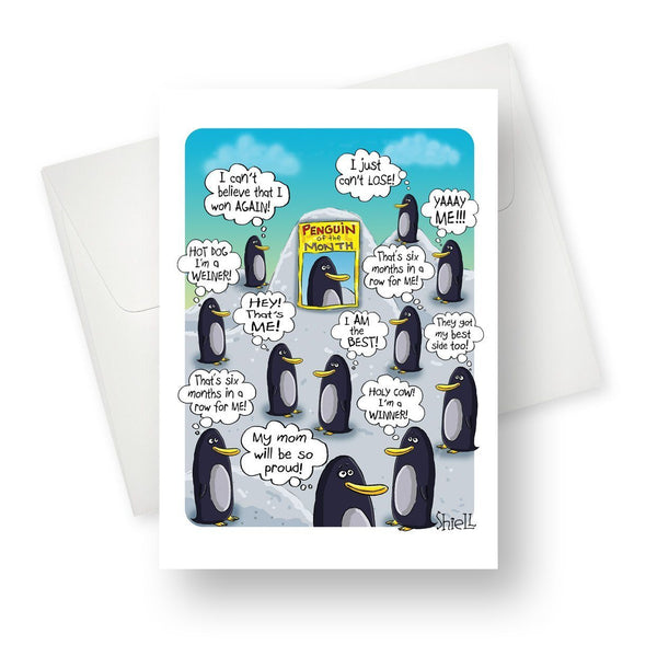 Penguin of the month... Greeting Card