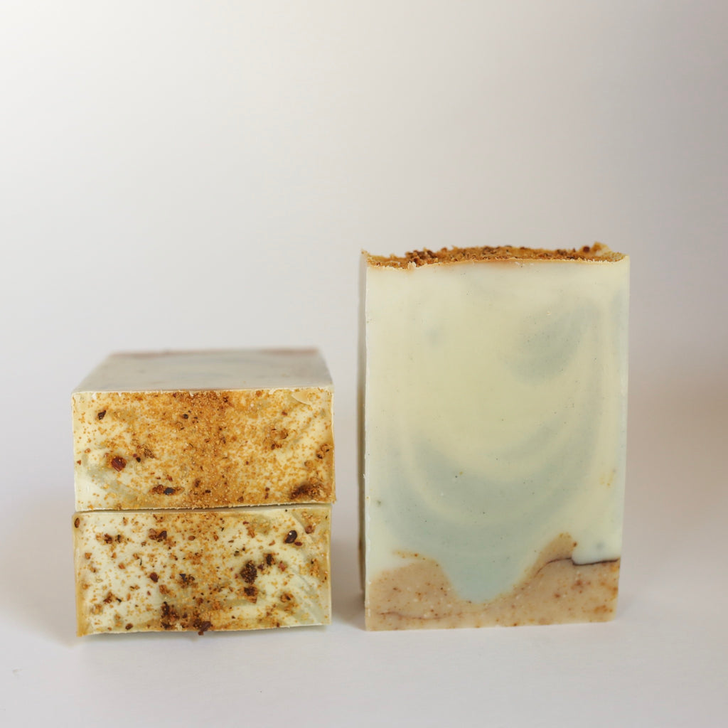 An herbal infused, natural soap. Scented with essential oils. Recommended for combination to oily skin.