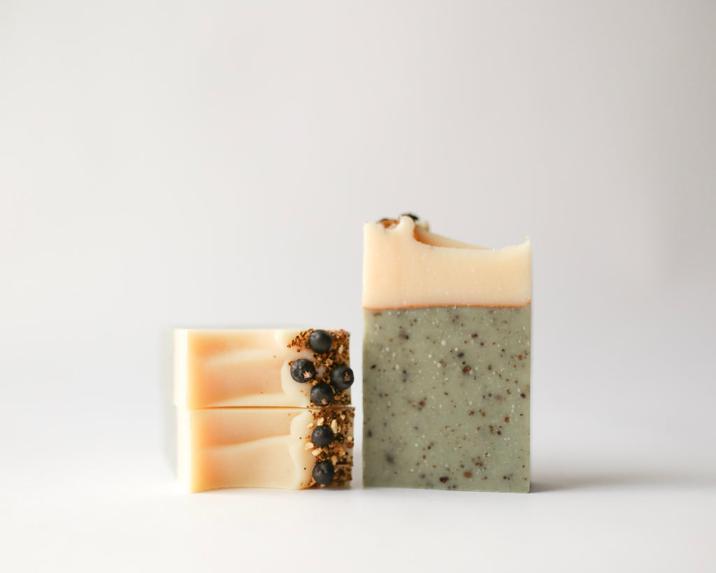 Natural, Vegan, Zero Waste, Herbal infused Juniper + Mint Artisan Soap