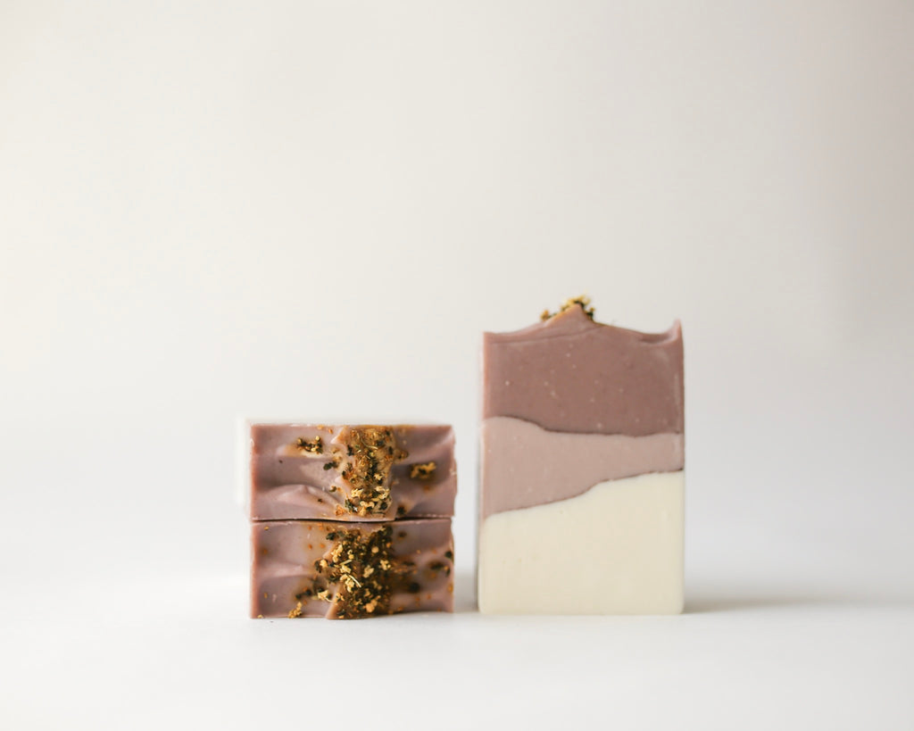 Natural, Vegan, Herbal Infused Elderflower + Lavender Handcrafted Soap