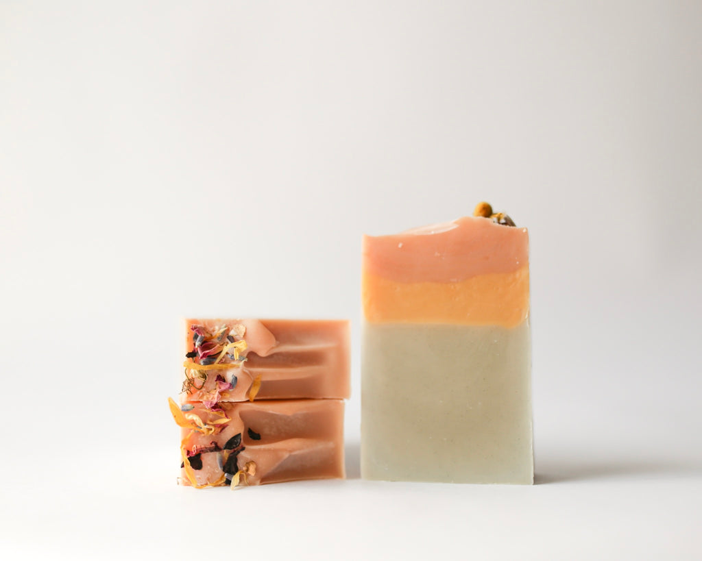 Small batch, Handcrafted Soap. Naturally colored with herbs, roots or clays. Naturally fragranced with essential oils. Vegan, Zero Waste, Palm Oil and Cruelty Free.