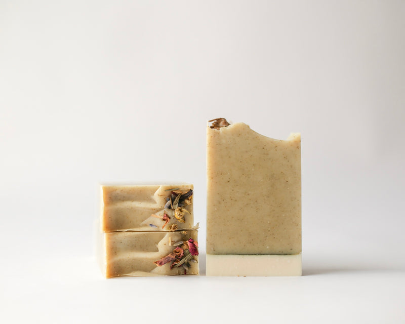 Natural, Vegan, Herbal infused Green Tea + Aloe Handcrafted Soap