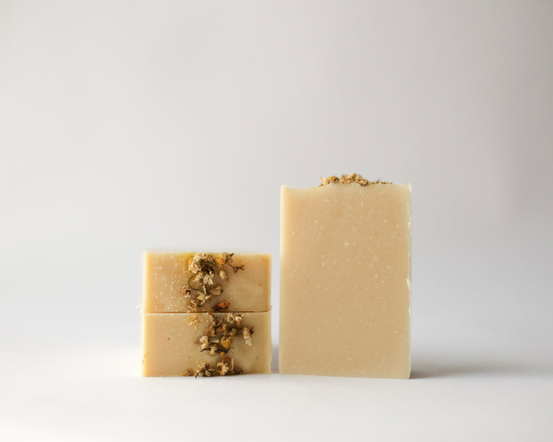 Natural, Vegan Chamomile + Oat Handcrafted Soap