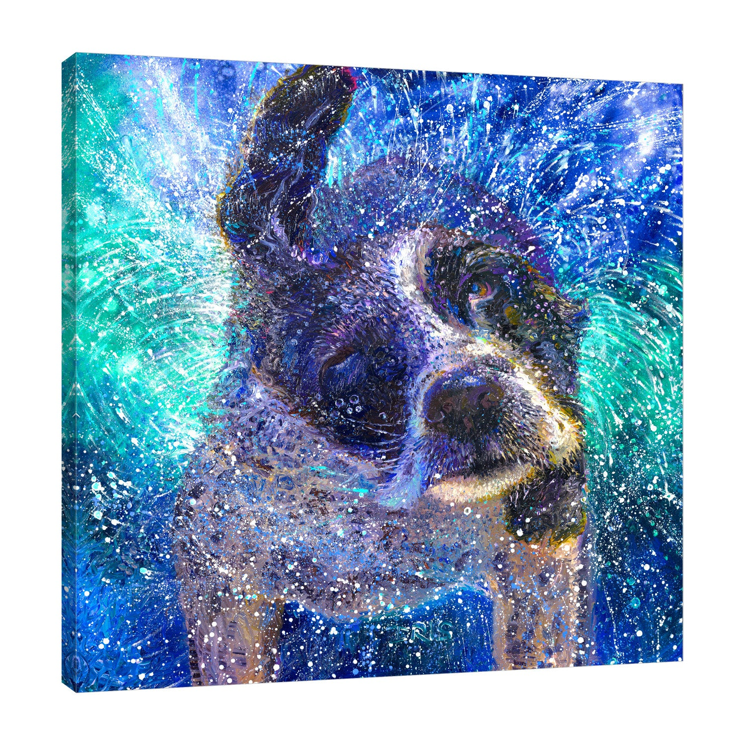 Spinning Spaniel | Canvas Print