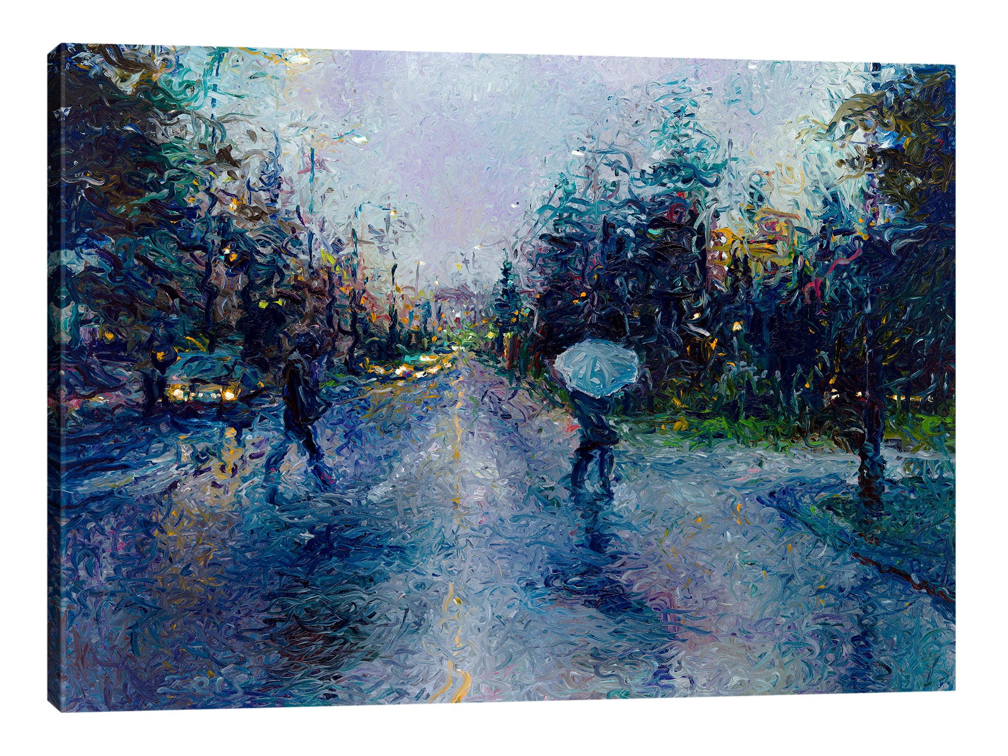 Slippery Sidewalk | Canvas Print