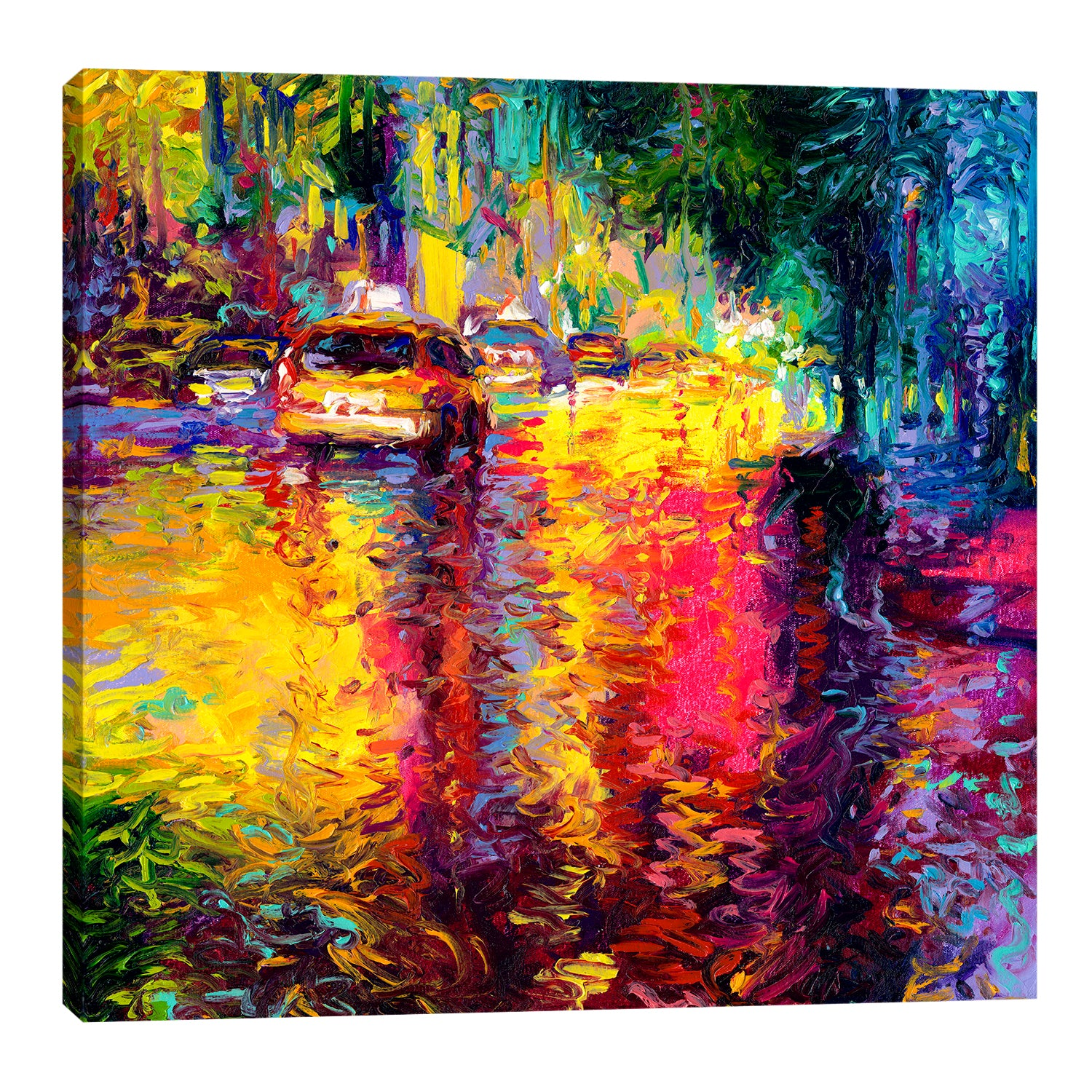 Bathed In Taxi | Canvas Print