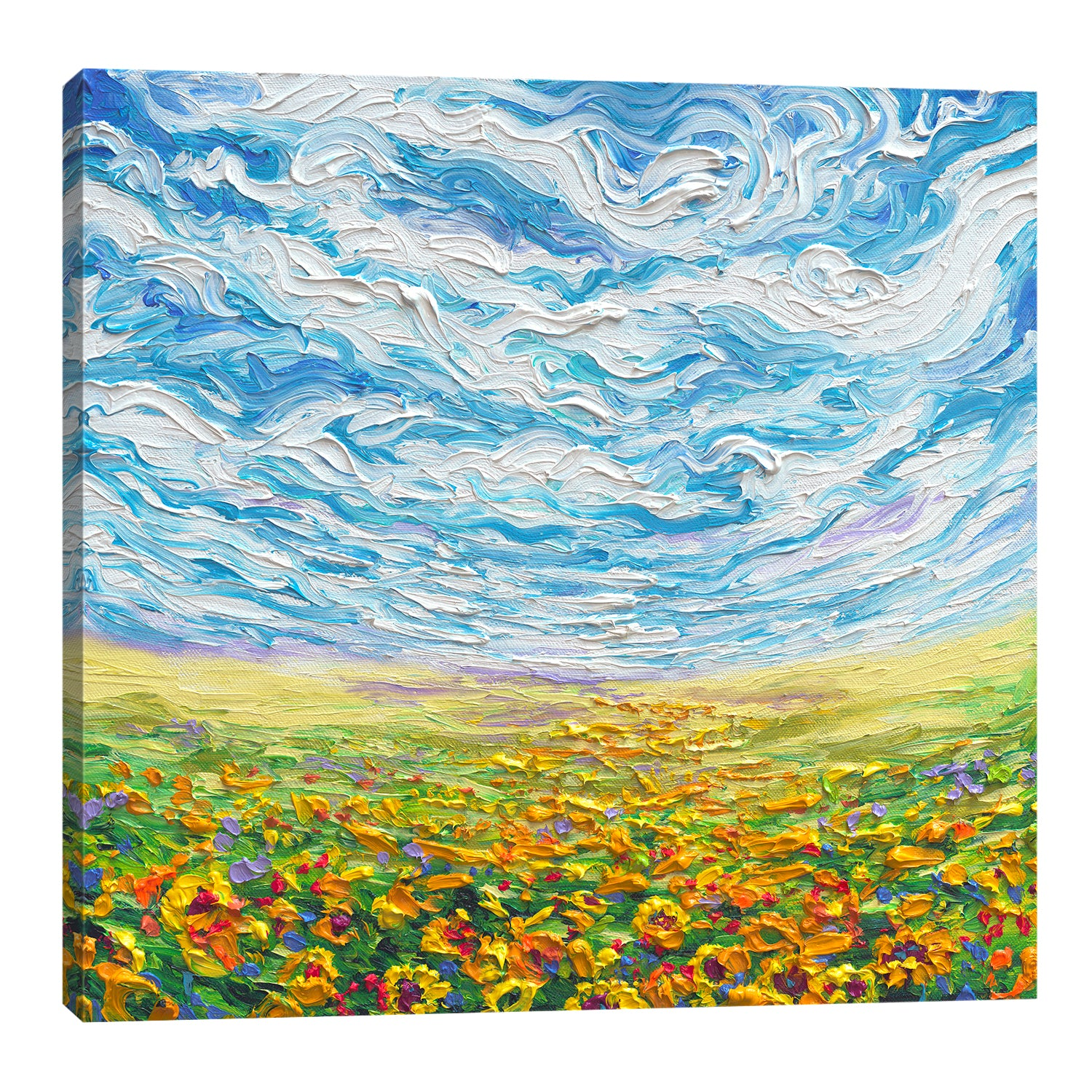 Big Sky Small Sunflowers | Canvas Print