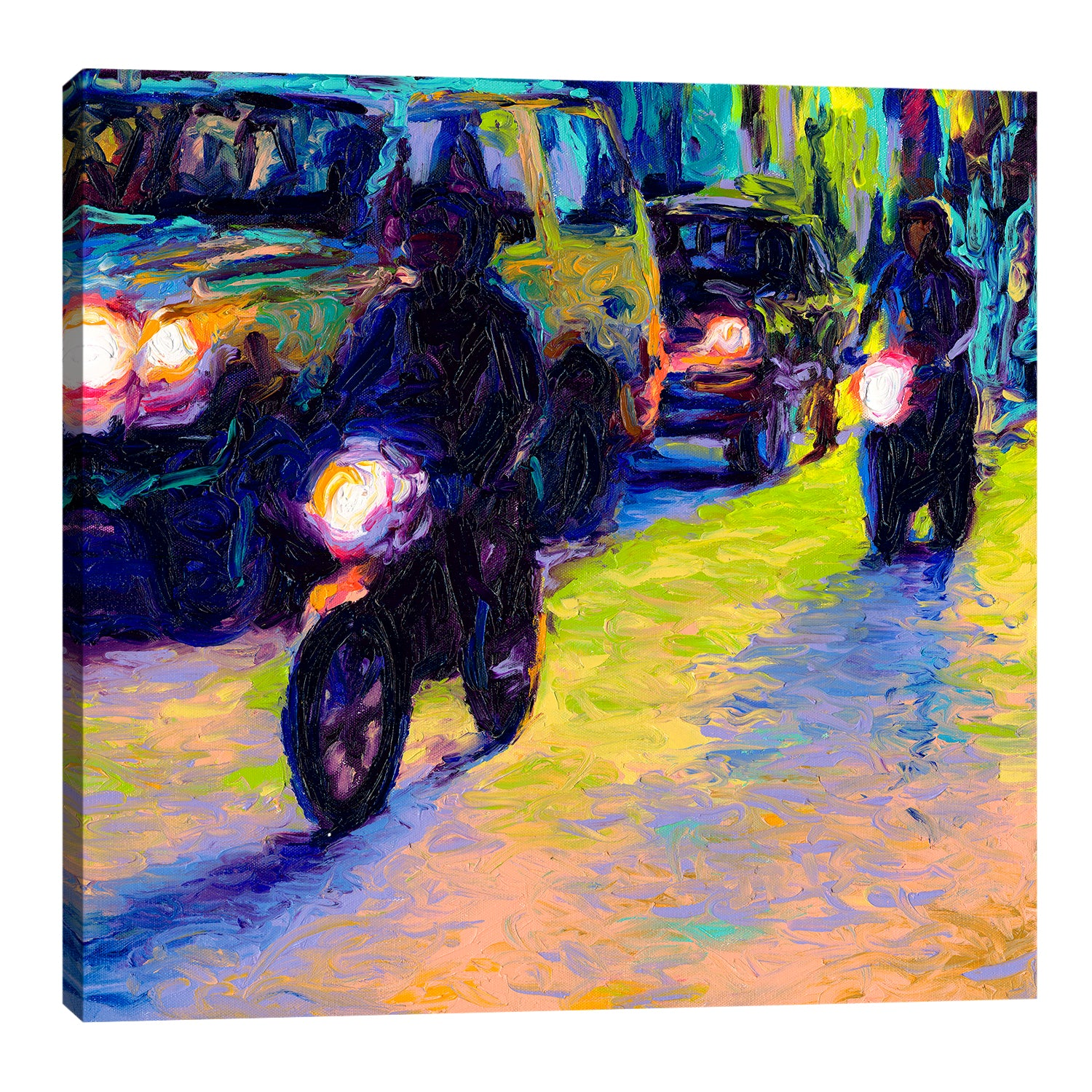 Two Motorcycles | Canvas Print