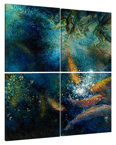 The Unseen Guest (4 panel) | Canvas Print