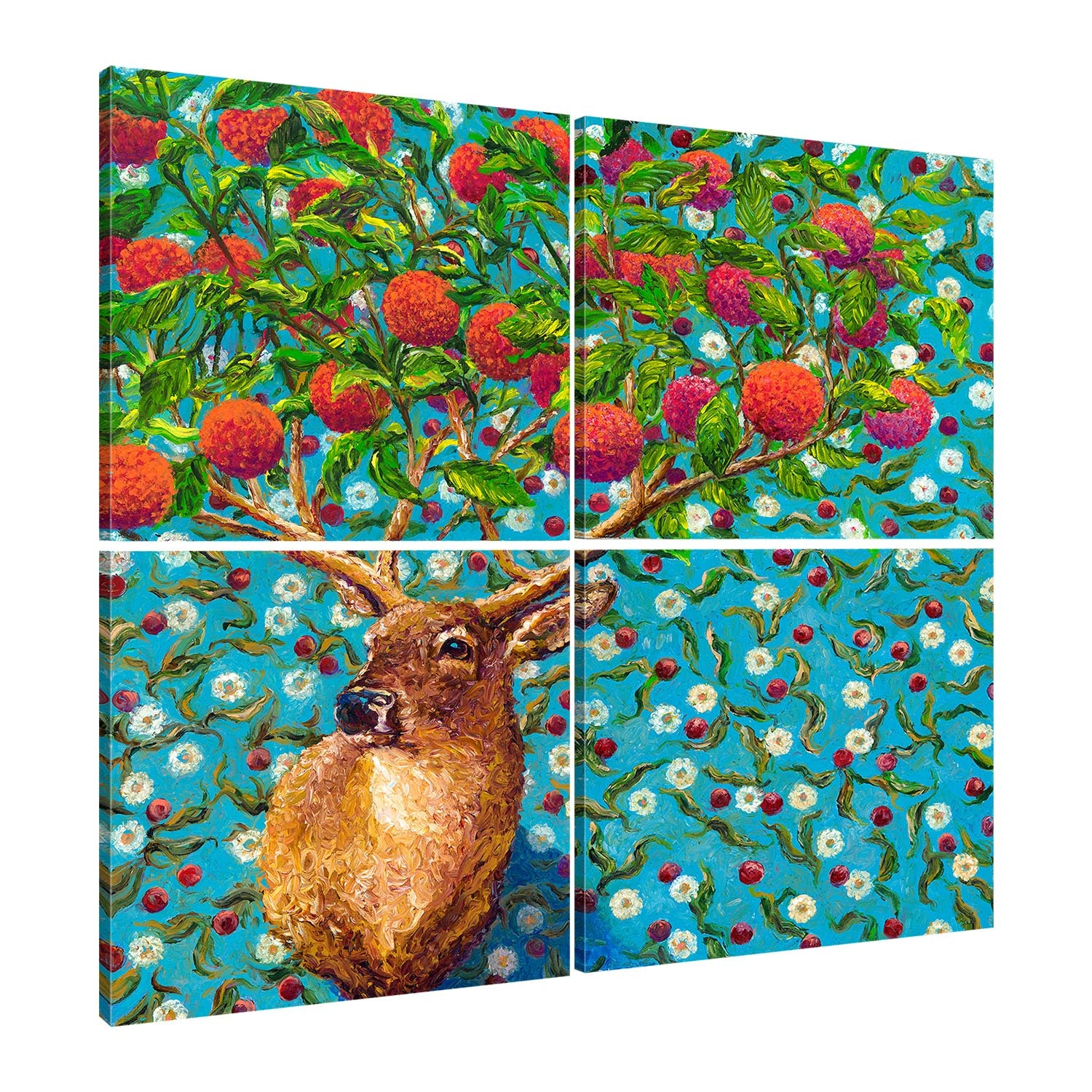 Cherry Buck (4 panel) | Canvas Print