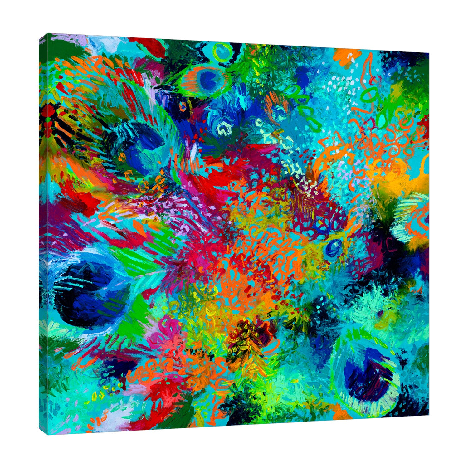 Rainbow In Latin | Canvas Print